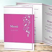Menükarten Design, Cirruswolke 60 Karten, Vertikale Klappkarte (A5) 145x210, Ro