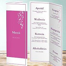 Menükarten Design, Cirruswolke 70 Karten, Vertikale Klappkarte 100x300, Ro