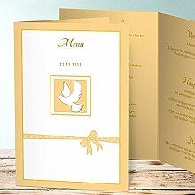 Menükarten Design, Günstling 175 Karten, Vertikale Klappkarte (A5) 145x210, Gelb
