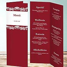Menükarten Design, Verzierung 120 Karten, Vertikale Klappkarte 100x300, Ro