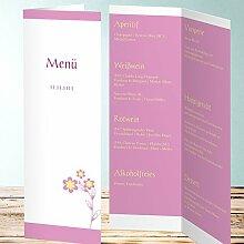 Menükarten Design, Zärtlichkeit 25 Karten, Vertikale Klappkarte 100x300, Ro