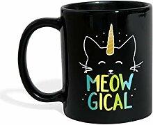 Meowgical Magical Katze Einhorn Tasse einfarbig,