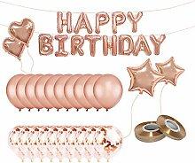 Meowoo Latexballons Folienballon Geburtstag Kit,