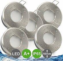 MERANO IP65 5er Set ultra flach LED 5W = 50W 230V