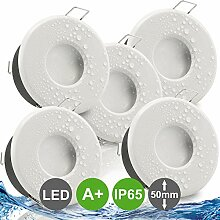 MERANO IP65 5er Set ultra flach LED dimmbar 5W =