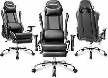 Merax Gaming Stuhl Chefsessel Bürostuhl