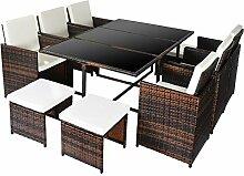 Merax Poly Rattan Lounge Gartenmöbel Set