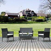 Merax Rattan Lounge Gartenmöbel Set Outdoor