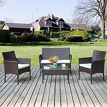 Merax Rattan Set Polyrattan Outdoor Loungeset