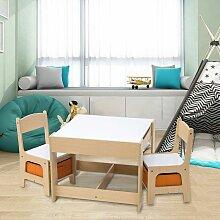 Mercatoxl - Kindertisch mit 2 Stühle Sitzgruppe