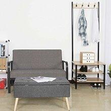 MercatoXL Kleiderständer mit Sitzfläche, mit 4