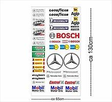 Mercedes Logo Autoaufkleber Sponsoren Marken Aufkleber Decals Tuning Sticker Se