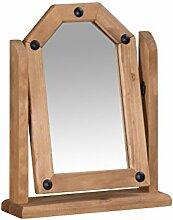 Mercers Furniture Corona Frisiertisch mit Spiegel, Holz, antique wax, 40 x 11 x 51 cm