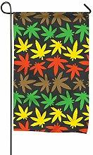 MERCHA Marihuana Gartenflagge, klassisch,