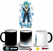 MERCHANDMANIA Magic Mug Vegeta SSJ Blue Aura Power
