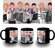 MERCHANDMANIA Tasse komplett schwarz BTS Korea