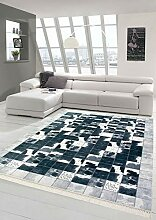 Merinos Kuhfell Imitat Teppich Patchwork in