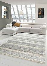 Merinos Teppich Design Kurzflor mit Streifen in
