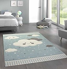 Merinos Teppich für Kinder mit Wolken