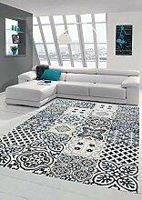 Merinos Teppich mit Fliesen Muster Wohnzimmer