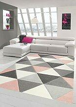 Merinos Teppich modern Designerteppich mit Dreieck