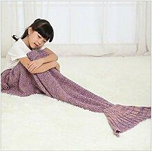 Mermaid Decken Kinder Fischschwanz Strickwaren