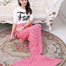 Mermaid Decken Klimaanlage Decke Scale Decke Sofa Decke Fischschwanz Kleine Decke,A6