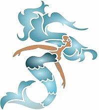 Mermaid Schablone-wiederverwendbar Sea Ocean