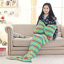 Mermaid Tail Blanket Kissen Sofa Schlafdecke