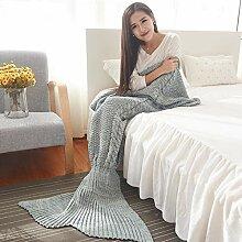 Mermaid Tail Decke Handgemachte Sofa Schlafdecke
