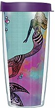 Mermaid Wrap Tumbler Becher mit Deckel 22 oz viole