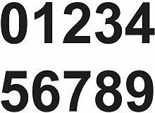 Merriway BH07152 Mülltonnenaufkleber, Nummern