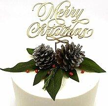 Merry Christmas Cake Topper