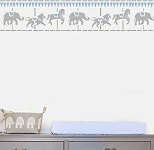 Merry Go Rund Bordüre Schablone Kinderzimmer Haus Wand Dekorieren & Basteln Schablone Farbe Wände Stoffe & Möbel 190 Mylar wiederverwendbar Schablone