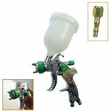 Merry Tools HK Niederdruck Gravity Feed, HVLP Lackierpistole 600CC 221452 Kunststoff-Tasse