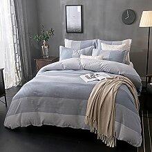 Merryfeel 100% Baumwolle Garn gefärbt Bettwäsche-Set - 135x200+80x80cm