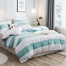 Merryfeel 100% Baumwolle Garn gefärbt Bettwäsche-Set - (Superking Set)260x220+2x50x75cm