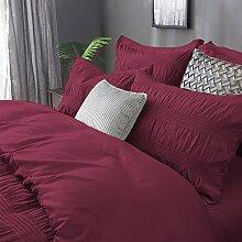 Merryfeel 100% Baumwolle Garn gefärbt Seersucker Bettwäsche-Set - (Single Set) 137x200+50x75cm