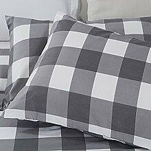 Merryfeel 100% Baumwolle Karo Garn gefärbt Kissenbezug Paar - 2er Se