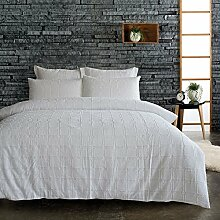 Merryfeel 100% cotton cutting check yarn dyed Duvet Cover Set - Double
