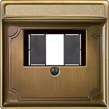 Merten 297843 Zentralplatte für TAE/Audio/USB,