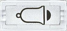 Merten Symbole, rechteckig, Klingel, glasklar, 395869