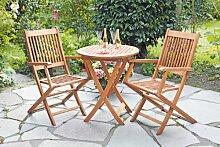 MERXX Gartenmöbel Gartensitzgruppe Rio 3-teilig