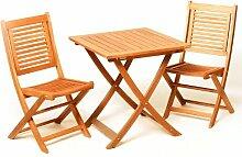 MERXX Gartenmöbel-Set aus Holz klappbar, 3-teilig