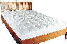 MESANA Premium Matratzen-Schoner Größe: 90x190 bis 100x200 cm Höhe: 27cm Weiß Soft Touch Microfaser Polyester Matratzen-Auflage Auch Für Ihr Boxspring-Bett Und Wasserbett Unter-Be
