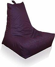 Mesana XXL Lounge-Sessel, ca. 100x90x80 cm, Sitzsack für Outdoor & Indoor, wasserabweisend, viele verschiedene Farben, lila
