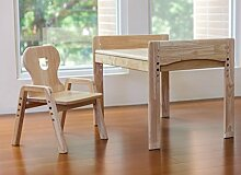 MesaSilla Mitwachsende Kindersitzgruppe, Kindertisch + Stuhl, Motiv: Bär, 100% Massivholz