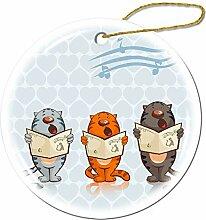 Mesllings Drei Tiger sind singende Ornamente -