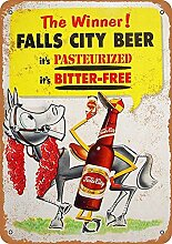 Mesllings Falls City Bier Blechschild Wandschild
