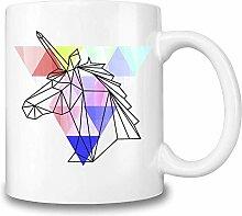 Mesllings Origami-Einhorn-Kaffeetasse, Keramik,